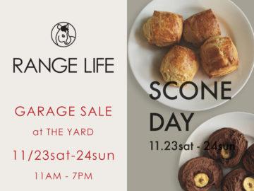 RANGE LIFEのガレージセールとSCONE DAY